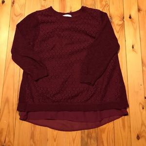 Christopher & Banks Lace Detail Sweater